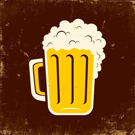 jarra de cerveza: Ilustración de la taza de cerveza Vectores