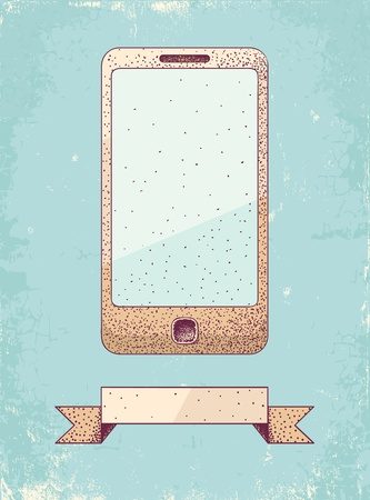 Illustration of phone in vintage style Stock Vector - 19548782