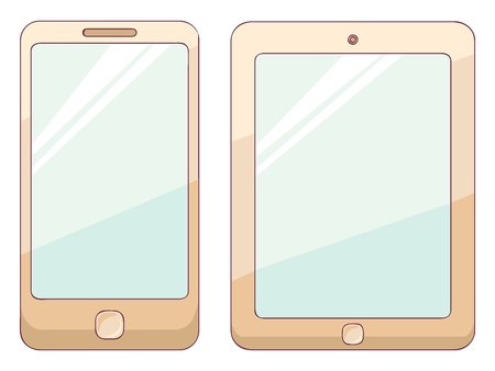 Illustration of phone and tablet Vector