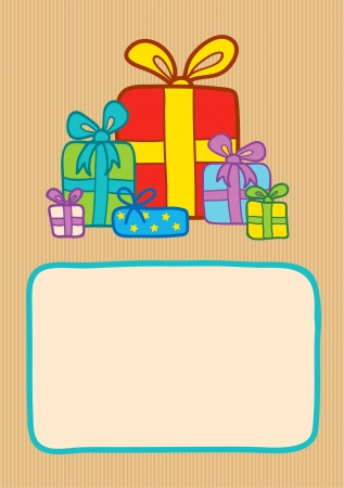 brightly: Illustration of gifts on a striped backround