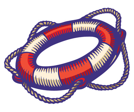 Illustration of a life buoy Vector