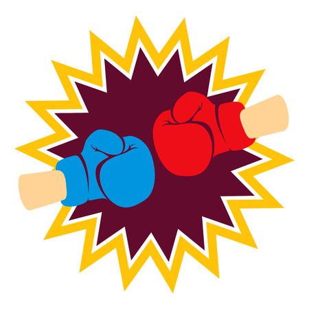 Boxerské rukavice Ilustrace