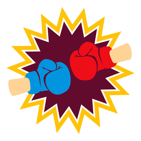 combative: Boxing gloves
