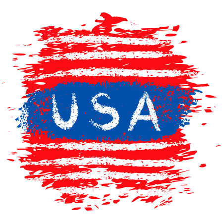 Grunge illustration of USA banner Vector