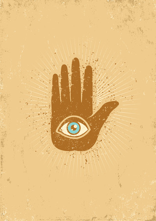 Poster with hand and eye