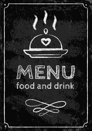 Illustration of a menu on chalkboard Vector
