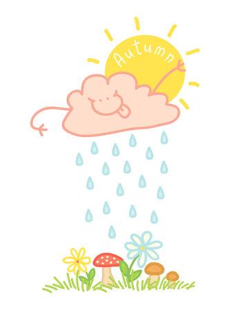 wheather forecast: Illusrtation of an autumn cloud