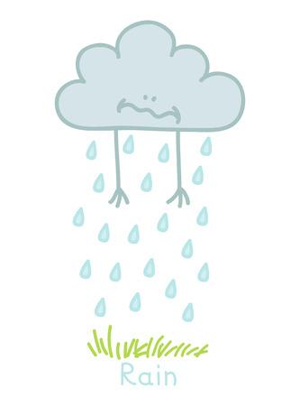 wheather forecast: illustration of a sad cloud