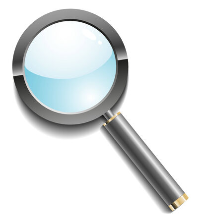 Illustration of a magnifier Vector