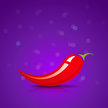habanero: illustration of a red chili pepper