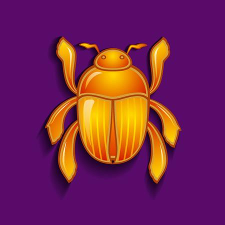 scarabeo: Illustrazione vettoriale di un coleottero scarabeo