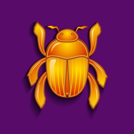 dung: Vector illustration of a  scarab beetle