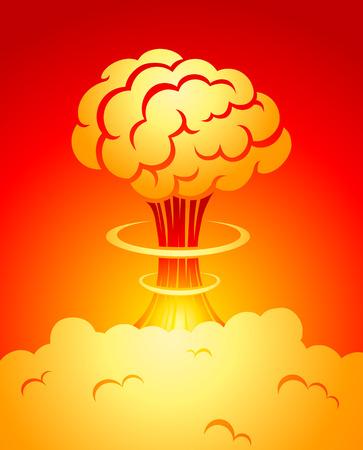 bombing: illustratie van een explosie