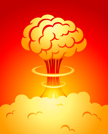 atomic explosion: illustration of a explosion Illustration
