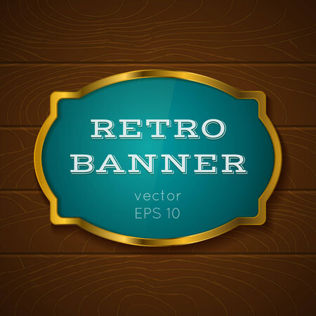 Illustration of a banner on wooden background Vector