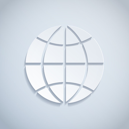 global business: Illustration of a Paper Globe
