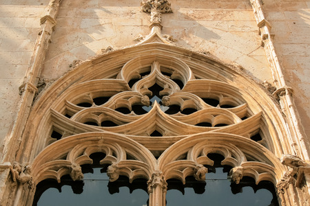 gothic window: Old gothic church window close-up Editorial