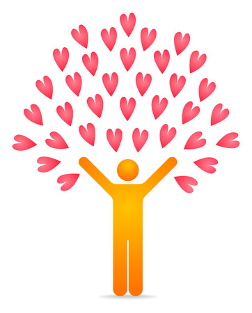 illustration of a love tree Vector