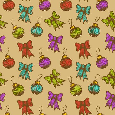 Retro seamless Christmas pattern Vector