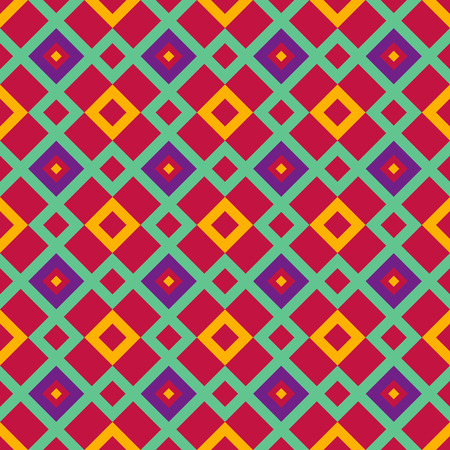 Seamless red geometric pattern Vector