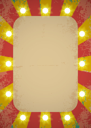 Circus poster with bright lights