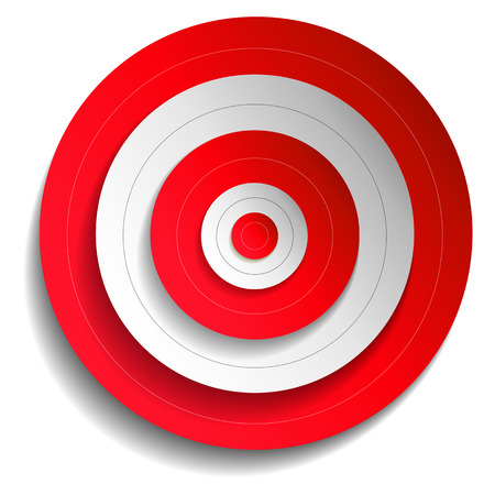 concentric circles: Illustration of a red target