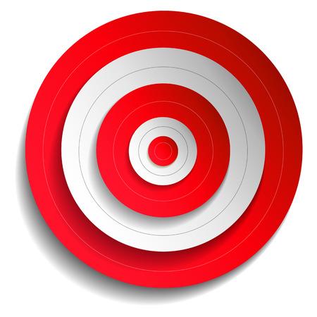 circulos concentricos: Ilustración de un rojo blanco Vectores