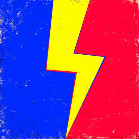 old background: lightning on old background Illustration