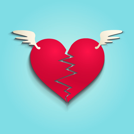 illustration of a broken heart