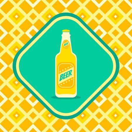 irish pub label design: Retro illustration of a beer bottle Illustration