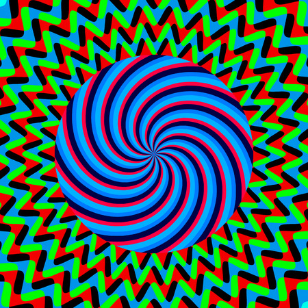 vertigo: Color hypnotic bright poster Illustration