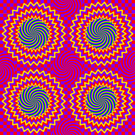 hypnotic: Color hypnotic seamless pattern