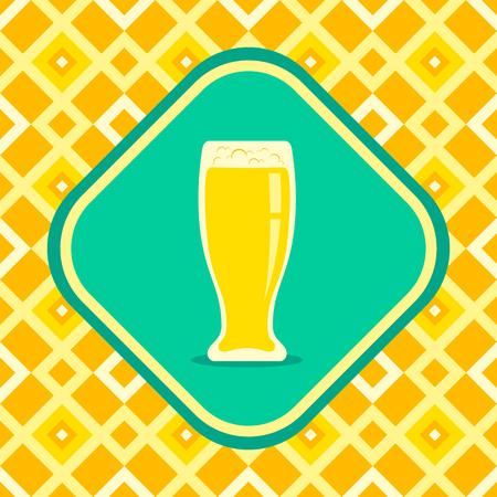 irish pub label design: Illustration of a beer mug Illustration