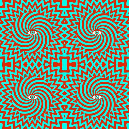 hypnotic: Color hypnotic retro seamless pattern Illustration
