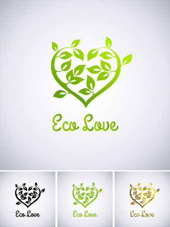 Illustration of a eco love Vector