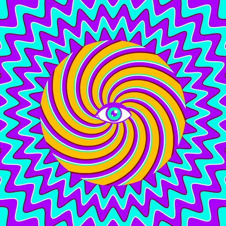 eyelid: Color hypnotic retro poster with eye