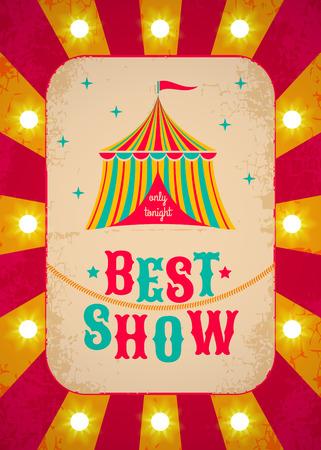 diversion: Cartel de circo retro con la tienda Vectores