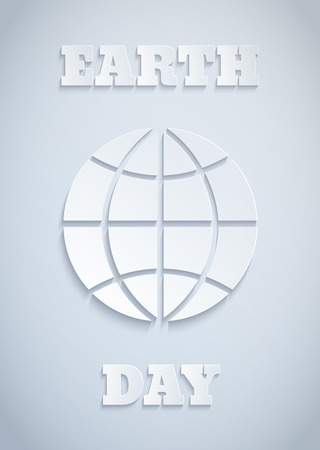 environment geography: Poster for Earth day with paper globe Illustration