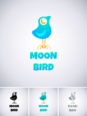 Logo template with blue bird Vector