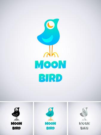 bird logo: Logo template with blue bird