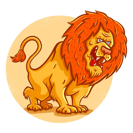 angry lion: Vector illustration of an angry lion