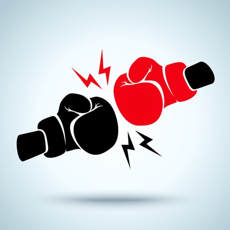boxeador: Dos guantes de boxeo