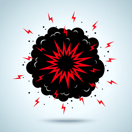 atomic explosion: Illustration of a explosion and smoke Illustration