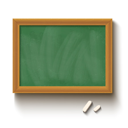 chalks: Illustration of a chalkboard and chalks Illustration