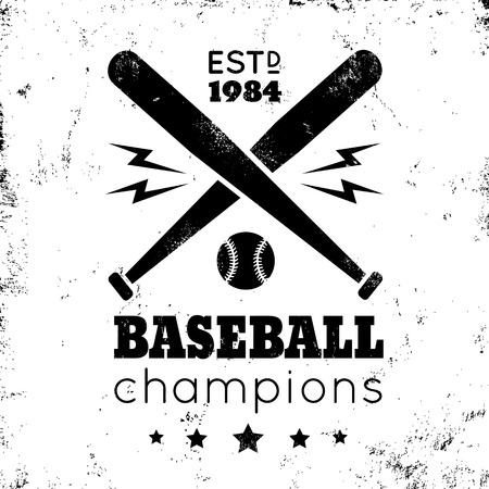 bate: Logo para el béisbol en fondo de oro