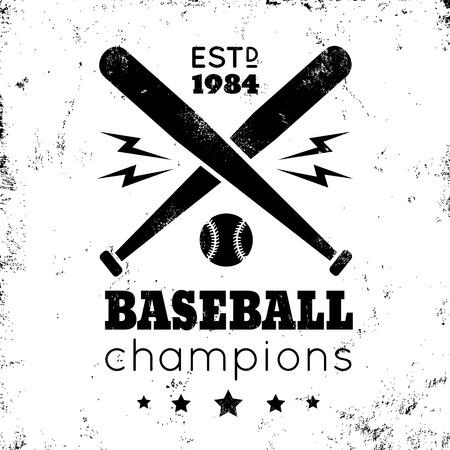 pelota de beisbol: Logo para el b�isbol en fondo de oro