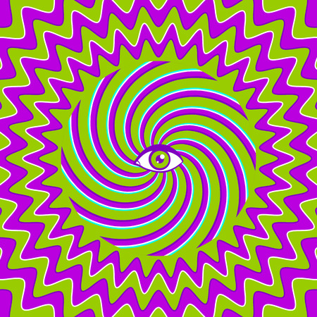 human eye: Color hypnotic retro poster with eye