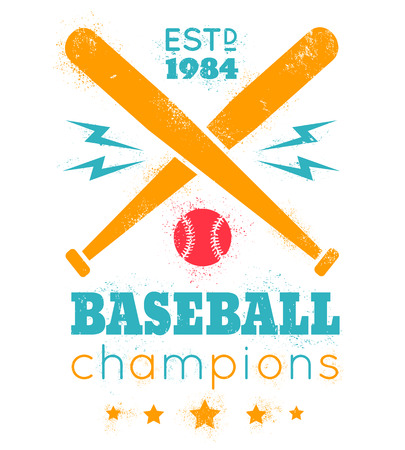 pelota beisbol: logotipo de la vendimia del vector para el béisbol Vectores