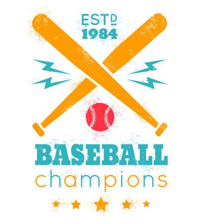 ball lightning: Vector vintage logo for baseball Illustration