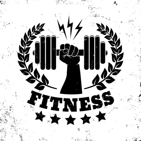 Vector vintage for fitness club